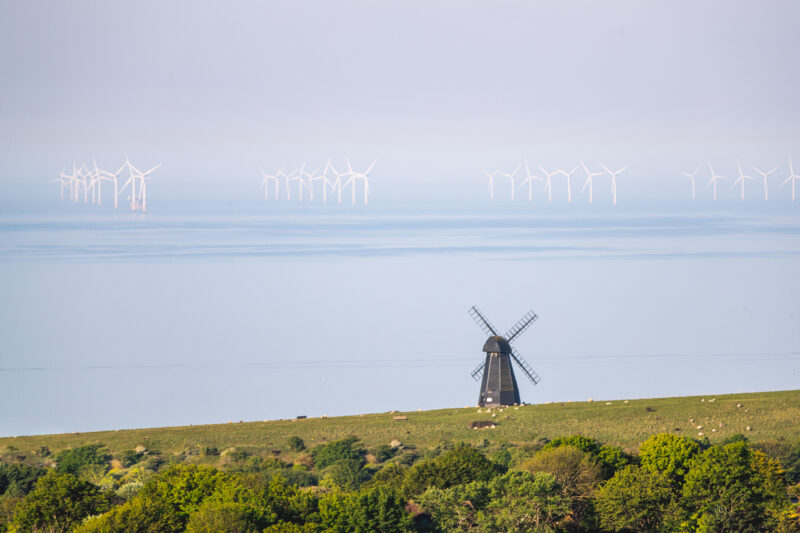 Windmills by the Ocean